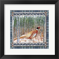 Framed Birch Frame Plaid-Pheasant