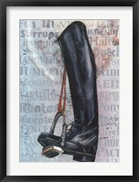 Framed Riding Boot Words