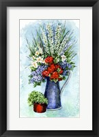 Framed Patriotic Flowers Sketch