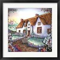 Framed English Cottage