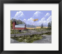 Framed Flying the Farm