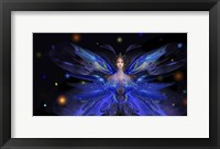 Framed Butterfly Blue Princess