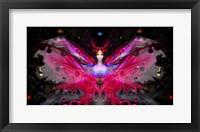 Framed Butterfly Red Dancer