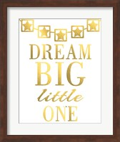 Framed Dream Big Little One