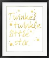 Framed Twinkle Twinkle Little Star