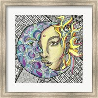Framed Mother Sun And Father Moon