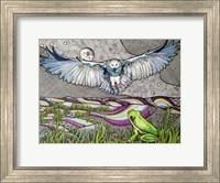 Framed Owl And Frog
