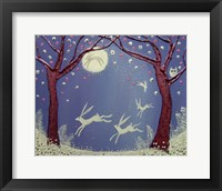 Framed Dance Of The Moon Hares