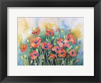 Framed Dancing Poppies
