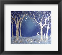 Framed Enchanted Winter Night