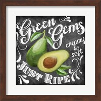 Framed Chalkboard Avocado