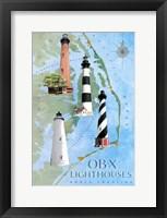 Framed OBX Lighthouses