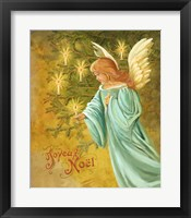 Framed Candle Lighting Angel