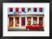 Framed Red Car
