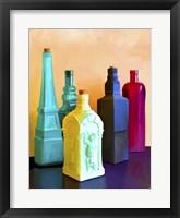 Framed Color Bottles
