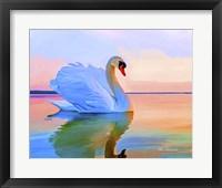 Framed White Swan