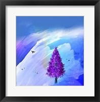 Framed Purple Tree