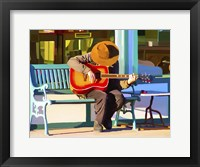 Framed Play His Guitar