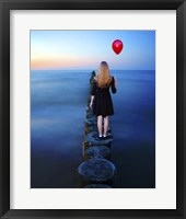 Framed Girl And Red Balloon