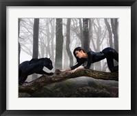 Framed Black Jaguar