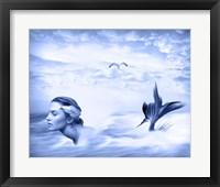 Framed Lone Mermaid