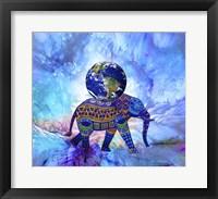 Framed Earth On Elephant