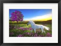 Framed Purple Land