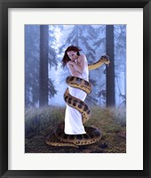 Framed Snake And Lady In White