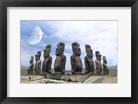 Framed Moai