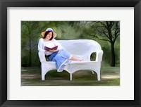 Framed Lady Reading 2