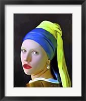 Framed Pearl Girl