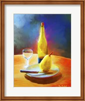 Framed Wine And Pear