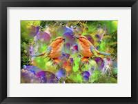 Framed Lover Birds M2