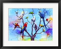 Framed Birds Land !H