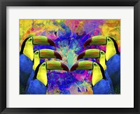 Framed Colorful Birds A1A