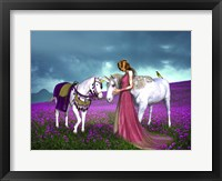 Framed Princess And Unicorns