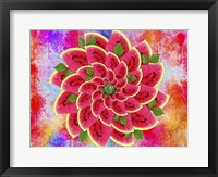 Framed Watermelon Flower