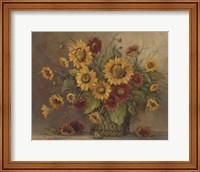 Framed Sunflower Bouquet