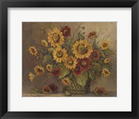 Framed Sunflower Bouquet