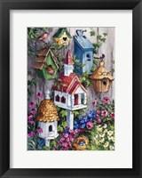 Framed Birdhouse Cottage