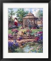 Framed Red Garden Gate