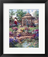 Framed Red Garden Gate