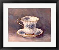 Framed Blue Nosegay Teacup