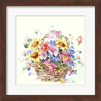Framed Sunflower Basket Mini II