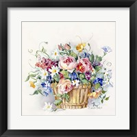 Framed Rose Basket