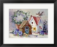 Framed Birdhouse Collection 1