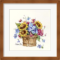 Framed Sunflower Basket I
