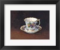 Framed Viola Bouquet Teacup