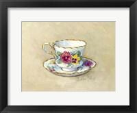 Framed Pansy Teacup