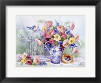 Framed Blue Bird Sonata